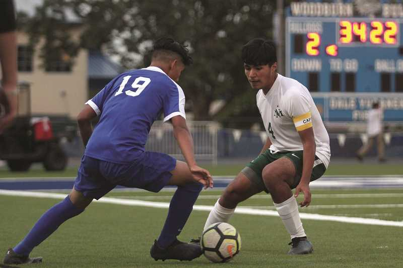 PMG PHOTO: PHIL HAWKINS - North Marion senior Rene Ramos was named to the 2019 4A All-State Soccer Second Team.