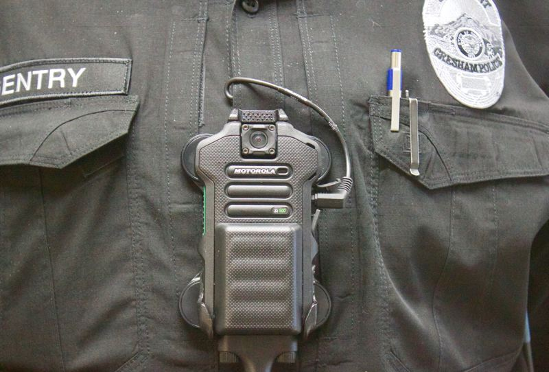 PMG PHOTO: CHRISTOPHER KEIZUR - The Gresham Police Department has implemented body-worn cameras for all sworn officers.