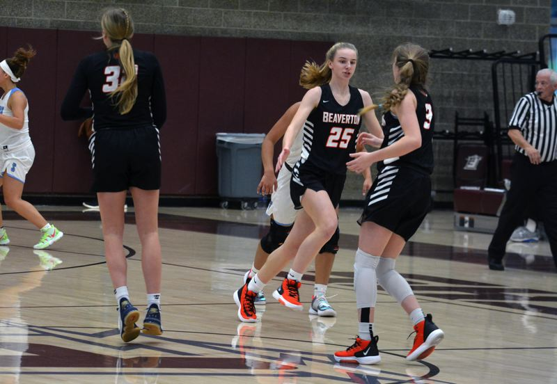 TIMES PHOTO: MATT SINGLEDECKER - Beaverton freshman Lainey Spear is part of an infusion of freshmen helping the Beavers off the bench.