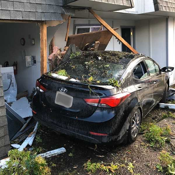COURTESY PHOTO: CCSO - Chelsea Ryann Amos, of Sandy, drove a Hyundai Elantra into an apartment building on Jan. 1.