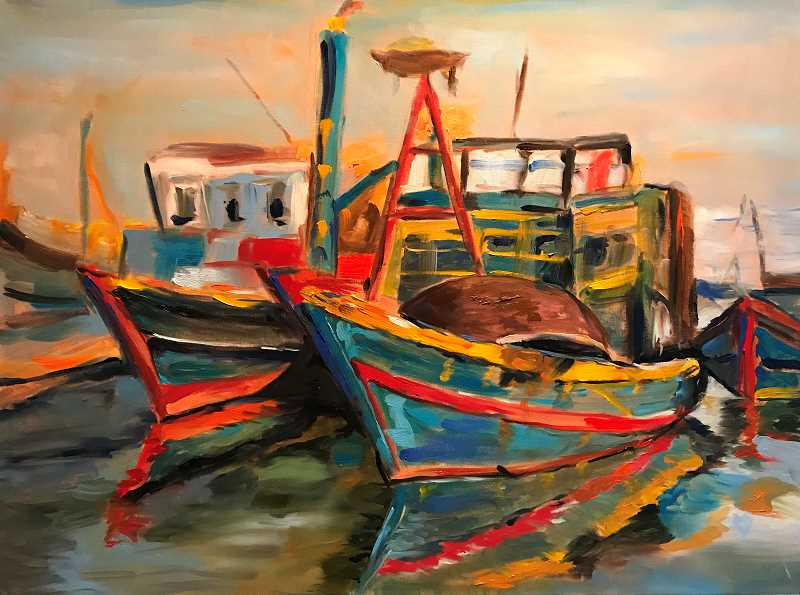 COURTESY PHOTO - IM=X Pilates is featuring an oil paintings exhibit through April.