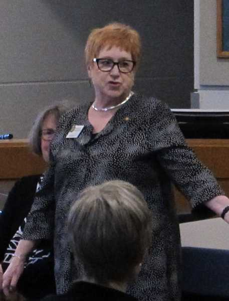 PMG PHOTO: BILL GALLAGHER - Representative Margaret Doherty, HD 35 - D, at a town hall in Tigard City Hall in January 2019.