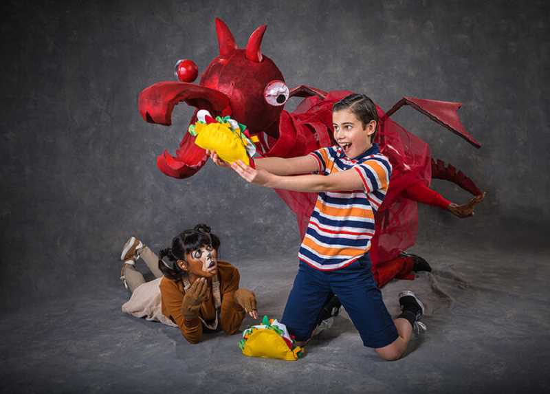 COURTESY PHOTO: OWEN CAREY - Oregon Children's Theatre production 'Dragons Love Tacos' is based on the New York Times bestselling children's book by Adam Rubin.