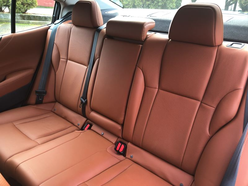 PMG PHOTO: JEFF ZURSCHMEIDE - The rear seat in the 2021 Subaru Legacy is big enough for three adults to ride in comfort and style.