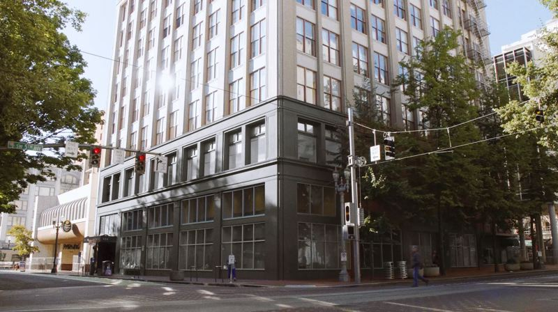 COURTESY: URBAN RENAISSANCE GROUP - As part of a major renovation and rebranding, the 10-story historic building at 426 S.W. Harvey Milk St. in downtown Portland will be renamed the J.K Gill Building, in honor of the original owner and tenant. The building, formerly known as the Gladys McCoy Building, previously served as the headquarters of the Multnomah County Health Department.