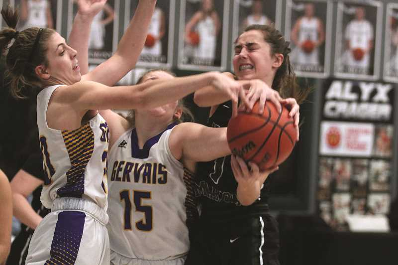 PMG PHOTO: PHIL HAWKINS - Head coach Trevor Bodine notes that sophomore Jaydan Sahlin has the physical skills to be a strong offensive player, provided she can be more aggressive in looking for her shot.