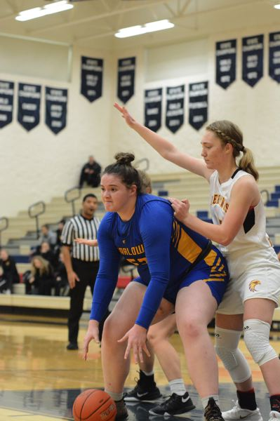PMG PHOTO: DAVID BALL - Barlow senior Libby Mathis is expected to be a force in the post for a Bruins squad looking to make a playoff push. She ranked second in the league in scoring last season.