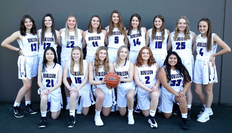 PHOTO COURTESY OF OSAA - The Horizon Christian High School girls basketball team is looking to make a return to postseason play in the 2019-20 season.