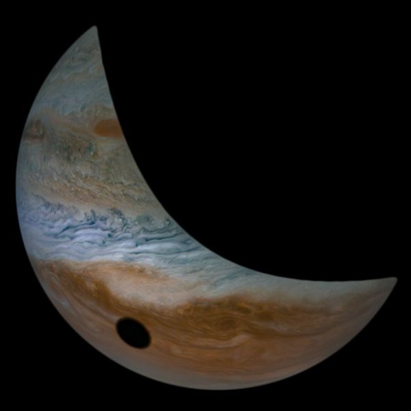 COURTESY PHOTO: NASA - Jupiter moon Io casts a shadow onto Jupiter in an image courtesy of NASAs Juno spacecraft.