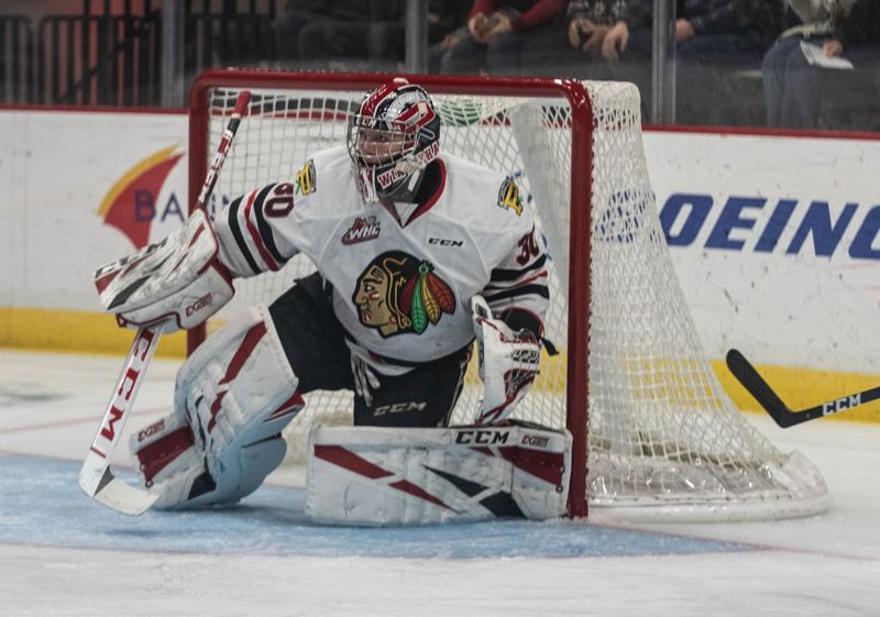 PMG FILE PHOTO: JONATHAN HOUSE - Joel Hofer of the Portland Winterhawks helped lead Team Canada to the World Juniors gold medal.