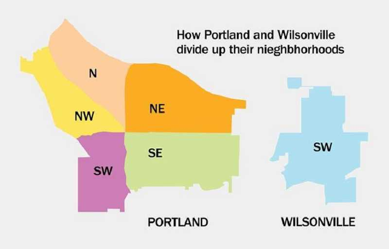 PMG PHOTO - Portland's addresses are divided up based on a local grid system whereas Wilsonville's are based on a regional grid.