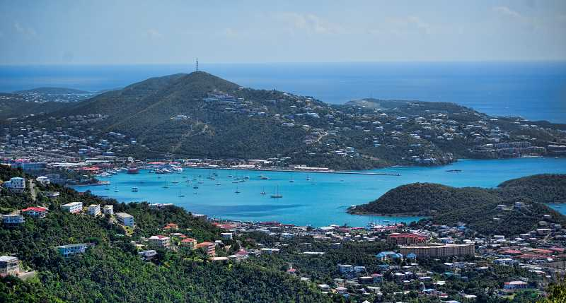 LON AUSTIN/CENTRAL OREGONIAN - St. Thomas in the U.S. Virgin Islands has some amazing views of small coves filled with sailing boats.