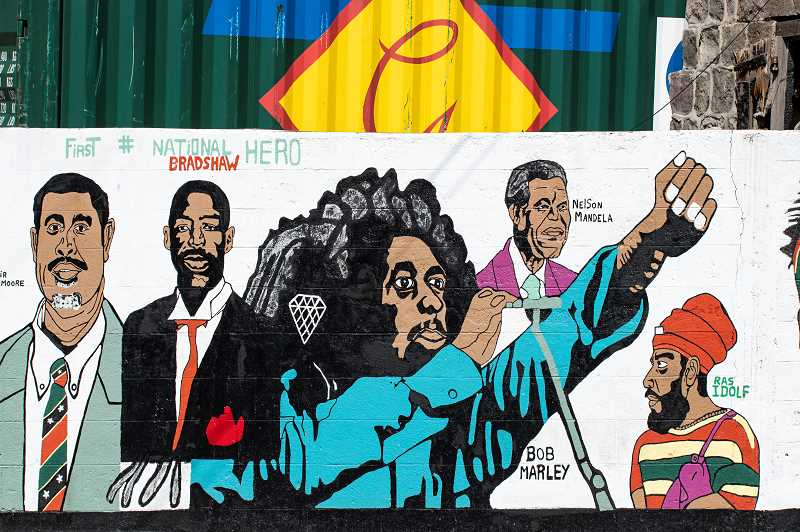LON AUSTIN/CENTRAL OREGONIAN - Street art is popular in the Carribean. This mural was off the beaten path in St. Kitts.