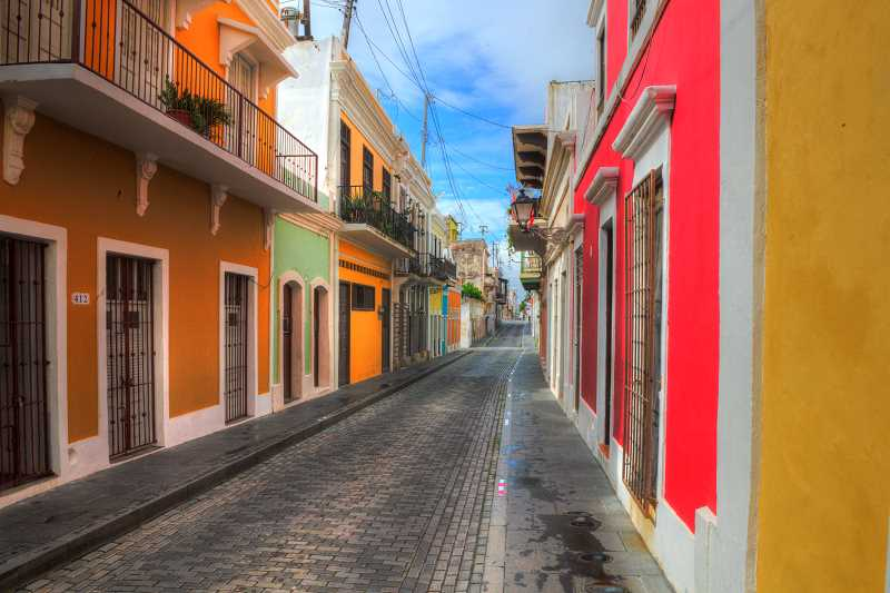 LON AUSTIN/CENTRAL OREGONIAN - Like Curacao Old Town San Juan, Puerto Rico is filled with narrow, colorful streets.