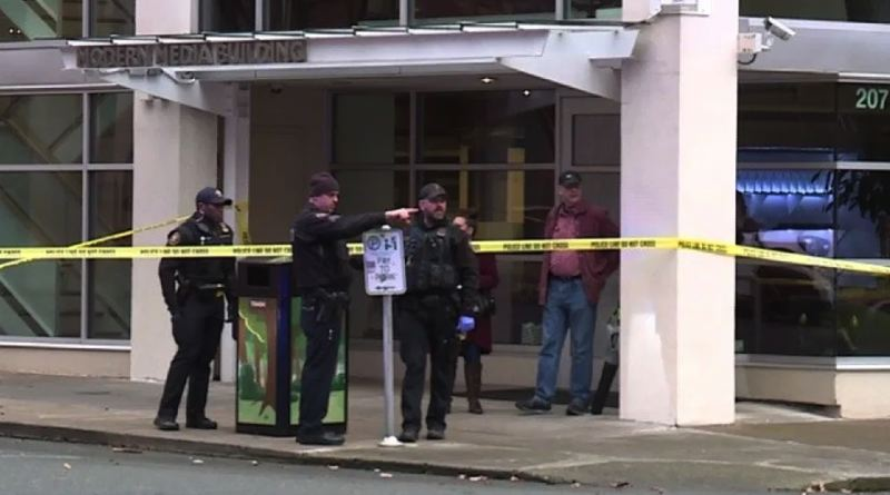 KOIN 6 NEWS PHOTO - Portland Police investigated an Old Town shooting on Jan. 7.
