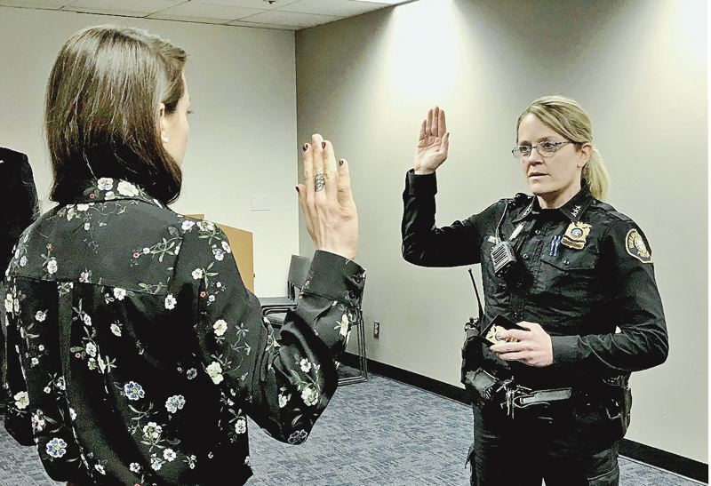 COURTESTY CITY OF PORTLAND - Portland's new police chief was sworn in immediately after Danielle Outlaw left.