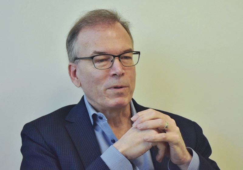 PMG FILE PHOTO - Portland City Commissioner Nick Fish speaking last year to the Portland Tribune editorial board. Fish died over the Christmas holidays after battling cancer.