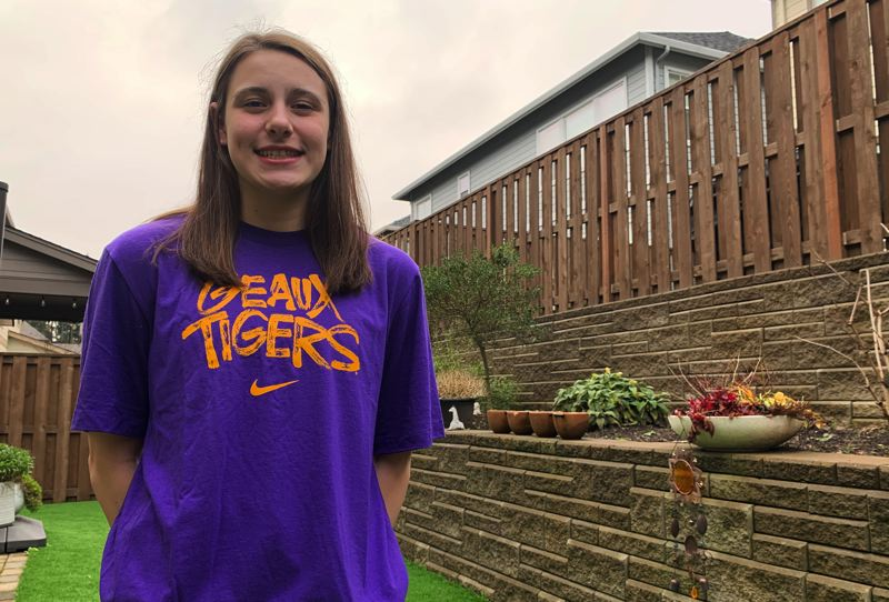 PMG PHOTO: DEREK WILEY - Wilsonville swimmer Abby Maoz has committed to LSU.