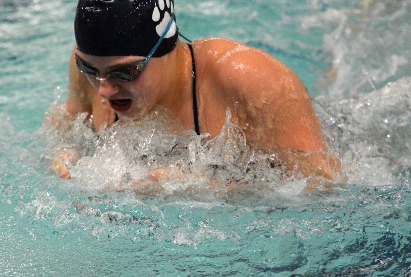 PMG PHOTO: DEREK WILEY - Abby Maoz is the Class 5A record holder in the 100 breaststroke.