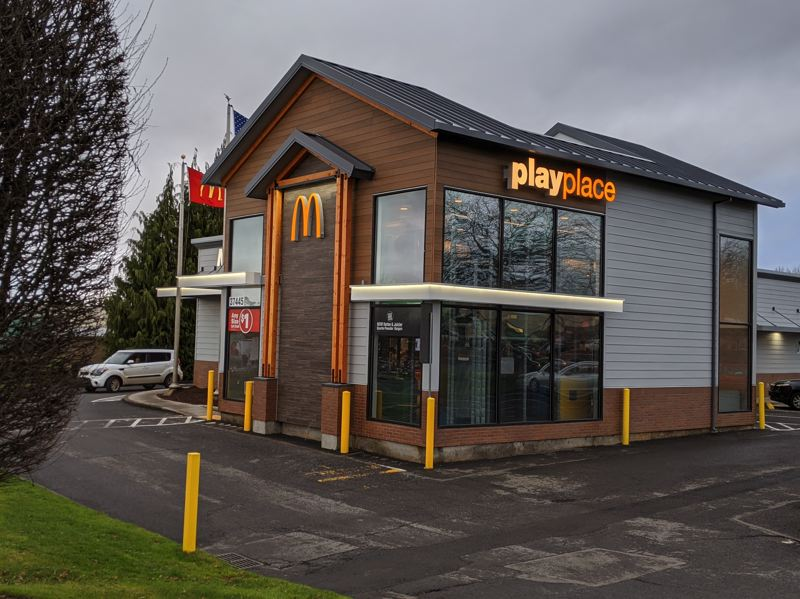 PMG PHOTO: BRITTANY ALLEN - The McDonalds in Sandy was one of the most recently remodeled businesses to implement Sandy style.