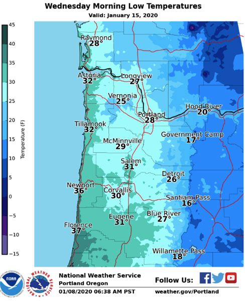 Pamplin Media Group Snow Is In The Oregon Forecast But Maybe Not In Portland