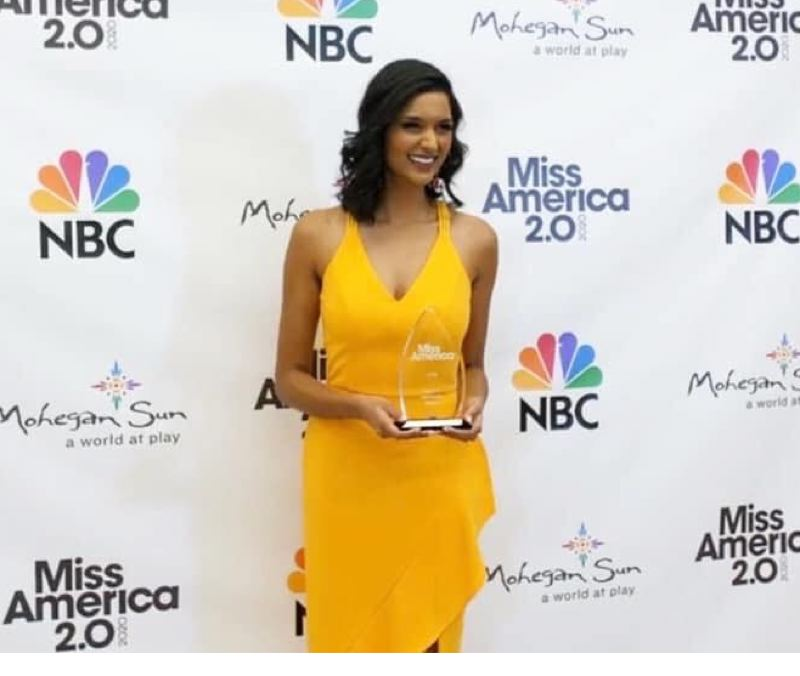 COURTESY PHOTO - Shivali Kadam, Miss Oregon, poses with an award she won during the Miss America contest.