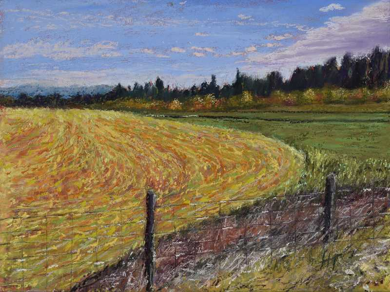 COURTESY PHOTO - Harley Talkington's oil pastel painting titled 'Vincent's Field.' Talkington is one of the finalists for the Picture Hillsboro Purchase Award.