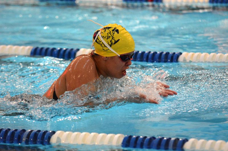 PMG PHOTO: DEREK WILEY - Canby swimmer Avery Keinonen won the 200-yard individual medley Thursday, Jan. 9 against Lakeridge.