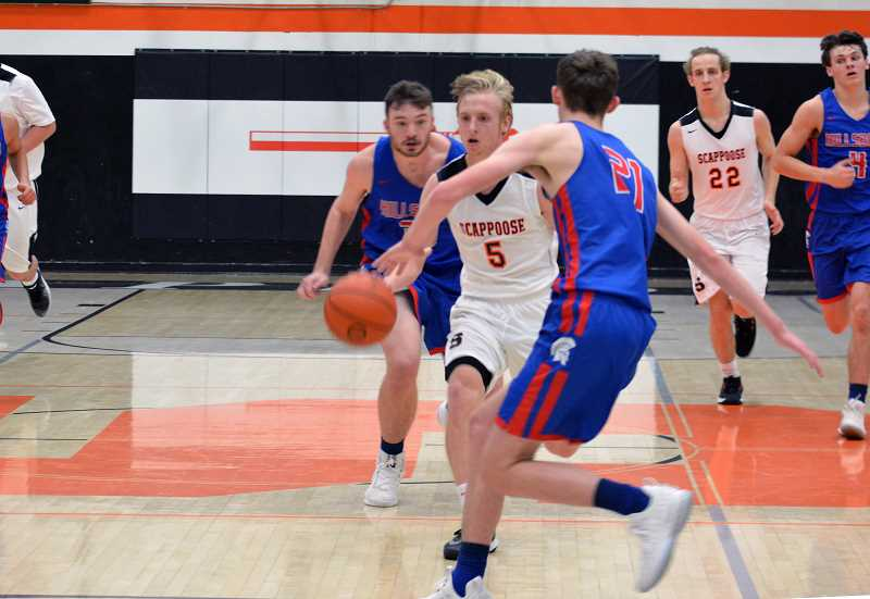 PMG FILE PHOTO - Scappoose shooting guard Jake Boyle has been one of the Indians early-season standouts so far this year.