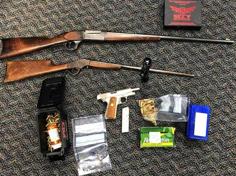 VIA PPB - Guns and ammo  were seized by police from a house in the Mt. Tabor area, PPB says.