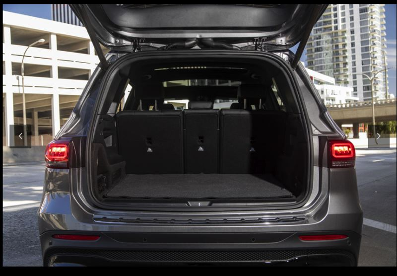 COURTESY MERCEDES-BENZ - The boxy styling gives the 2020 Mercedes-Benz GLB250 an enormous amount of interior room and cargo space for a compactr crossover.