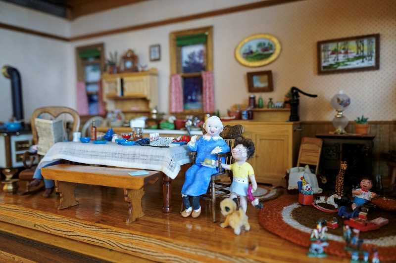 PMG PHOTO: CLARA HOWELL  - Bonnie Deahl will showcase the diorama of her grandparent's kitchen during The Springs at Carman Oaks' art show Jan. 23.