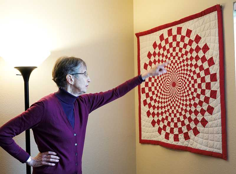 PMG PHOTO: CLARA HOWELL  - Kate Riggsby will display her handmade quilts.