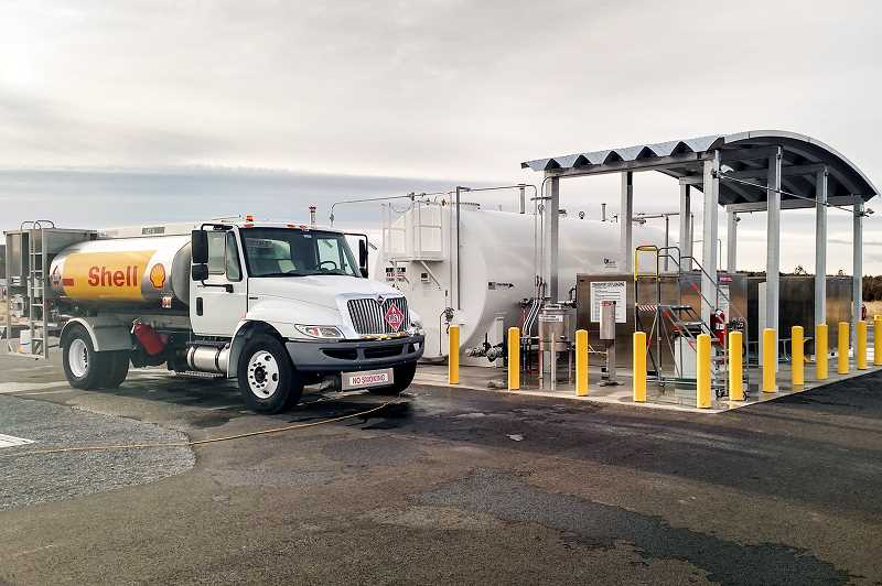 PHOTO SUBMITTED BY KELLY COFFELT  - The airport's new above-ground fueling system will save the facility money on insurance, inspections.