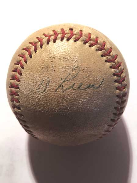COURTESY PHOTO: GARY MILLER - This ball was signed by Alfred Lien and was recently returned to his family.