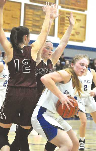 GRAPHIC FILE PHOTO - St. Paul's game versus Perrydale could be a preview of the Casco League title chase as the Pirates have been the Bucks' toughest test this year.