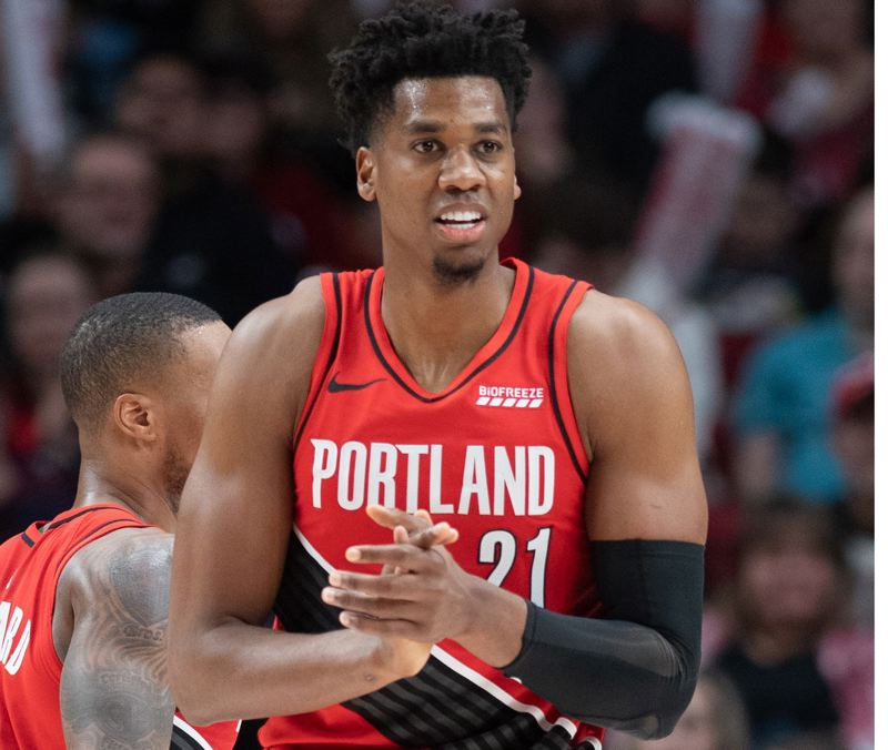 PMG PHOTO: CHRISTOPHER OERTELL - Hassan Whiteside has rung up impressive stats in his short time with the Trail Blazers.