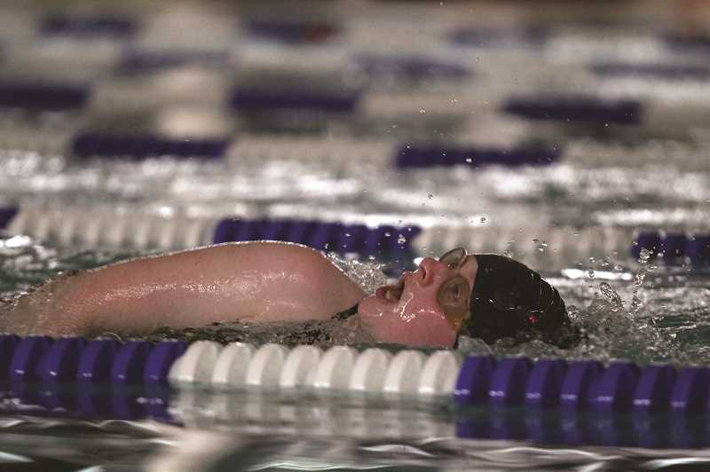 PMG PHOTO: PHIL HAWKINS - Kennedy's Alex Wayment had a fourth-place finish in the 200-yard freestyle.