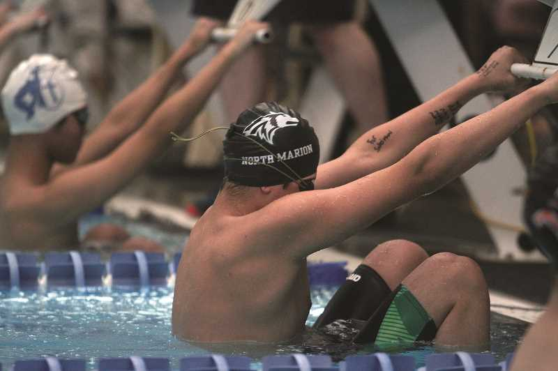 PMG PHOTO: PHIL HAWKINS - Jude Toth enjoyed a strong performance in the mixed 500-yard freestyle, finishing fifth in the event with a time of 6:03.18. He added a ninth-place finish in the 200-yard freestyle.