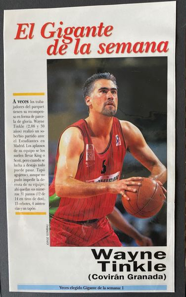 Wayne Tinkle was a star player in Europe.