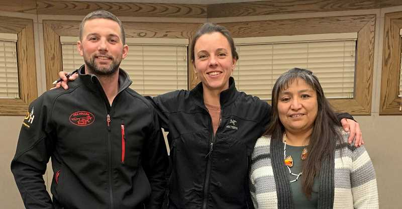 DESIREE BERGSTROM/MADRAS PIONEER - From left to right, Kevin Richards, Jamie Hurd and Laurie Danzuka make up three of the five members of the 509-J School Board, along with Courtney Snead and Tom Norton.