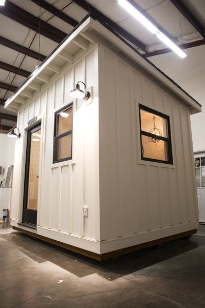 PMG PHOTO: JAIME VALDEZ - A model of a luxury sheshed is displayed inside Outdoor Office LLC in Sherwood.