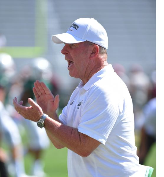 COURTESY: CAL POLY - Tim Walsh, recently out as Cal Poly football coach, has spent 29 seasons as a head coach in the college ranks. Now he's going to coach a high school team in Rancho Santa Margarita, California.