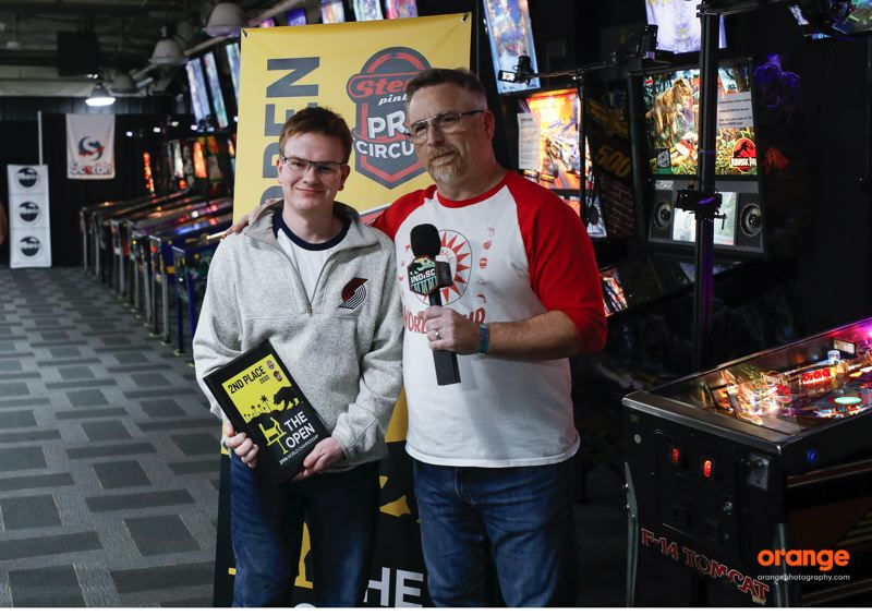COURTESY: ORANGE PHOTOGRAPHY - Colin Urban (left), 17, has been a star on the national pinball scene for many years.