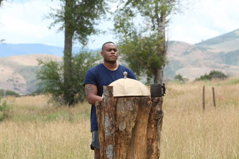 COURTESY PHOTO: PHIL ZIMMERMAN - Ramontay McConnell of Portland is tackling the bears, including in an eating competition, in Discovery Channel series 'Man Vs. Bear.'