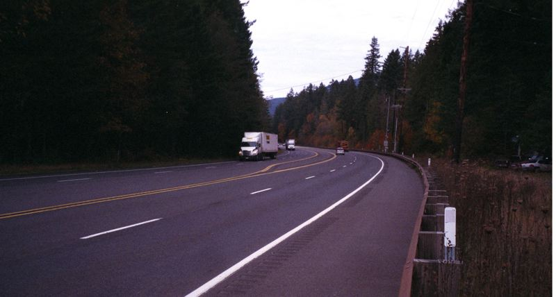 COURTESY PHOTO: PAUL KELLER - This stretch of Highway 26, near the Rhododendron Bridge just west of Rhododendron, has been the scene of two astonishing count my lucky stars episodes.