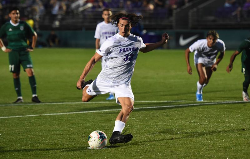 COURTESY: UNIVERSITY OF PORTLAND - Luke Hendel led the Portland Pilots in goals as a junior in 2019, but with only five of the team's 27 in a 9-7-1 season.