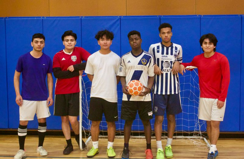 PMG PHOTO: CHRISTOPHER KEIZUR - Sunday Futsal is a free gathering that gives East Multnomah County kids a safe place to hone their skills and make friends.