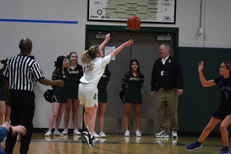 TIMES PHOTO: MATT SINGLEDECKER - Jesuit junior point guard Molly Block is one of the best three-point shooters in the Metro League.