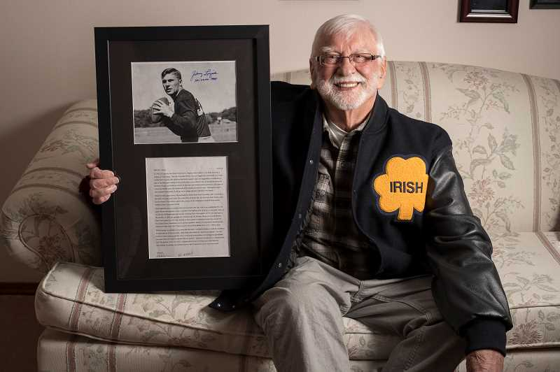 82-year-old Forest Grove man gets autograph from childhood idol